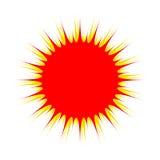 röd sun Royaltyfri Bild