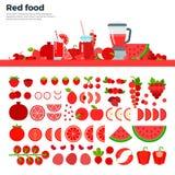 Röd sund mat på tabellen Royaltyfri Fotografi