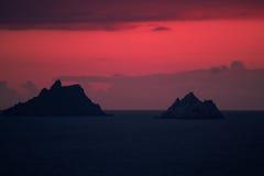 röd sundown royaltyfria foton