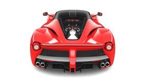 Röd Supercar - bakre studiosikt Royaltyfri Bild