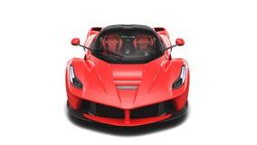 Röd Supercar - Front Studio View Fotografering för Bildbyråer
