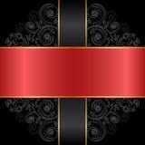 Röd svart Fotografering för Bildbyråer