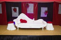 Röd svart bröllopetapp Royaltyfria Bilder