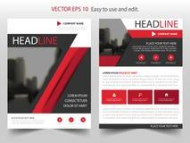 Röd svart design för mall för reklamblad för broschyr för vektorårsrapportbroschyr, bokomslagorienteringsdesign, abstrakt affärsp vektor illustrationer