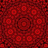 Röd svart kalejdoskop Arkivbild