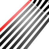 Röd svart linje tapet Royaltyfri Bild
