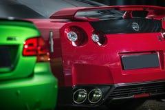 Röd-svart Nissan GT-R trimma Royaltyfria Bilder