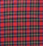 Röd svartvit lantlig backgroun för textil för plädtygprovkarta royaltyfri bild