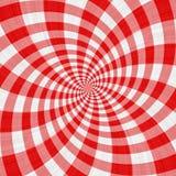 röd swirltartan för torkduk Arkivbild