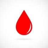 Röd symbol för bloddroppvektor royaltyfri illustrationer