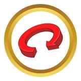 Röd symbol för pilåtervinningvektor Arkivfoto