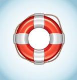 Röd symbol för vektor för livboj Fotografering för Bildbyråer