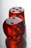 röd tärning Royaltyfri Bild