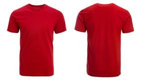 Röd t-skjorta, kläder royaltyfria foton