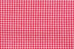 röd tablecloth Högt res-foto Arkivfoton