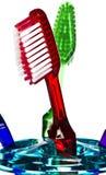 röd tandborste Royaltyfri Fotografi
