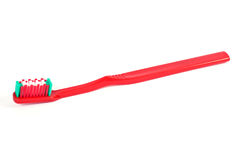 röd tandborste royaltyfri foto