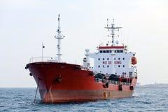 röd tankfartyg Royaltyfria Bilder