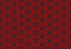 Röd tapet för blommamodell Royaltyfri Foto