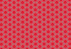 Röd tapet för blommamodell Royaltyfri Bild