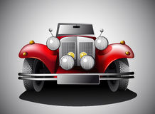 Röd tappningbil   Arkivfoto