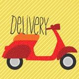 Röd tappningsparkcykel, leveransillustration Fotografering för Bildbyråer