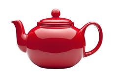 röd teapot Fotografering för Bildbyråer