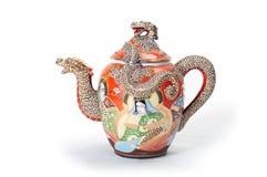röd teapot Royaltyfri Foto