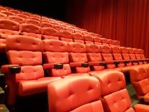 Röd teater Hall Royaltyfri Bild