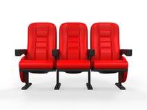 Röd teater Seat Arkivfoto