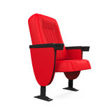 Röd teater Seat Royaltyfria Bilder