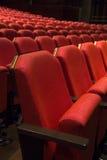 Röd teater Seat arkivbilder