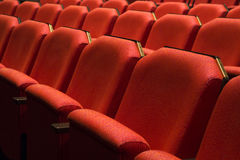 Röd teater Seat arkivbild
