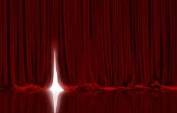 röd teatervektor för gardin stock illustrationer