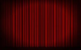 röd teatervektor för gardin vektor illustrationer