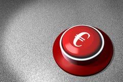 röd teckenströmbrytare för euro Arkivbilder