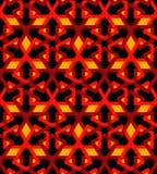 Röd tegelplatta för arabisk mosaicasvart vektor illustrationer