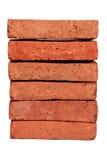 Röd tegelsten Arkivfoto