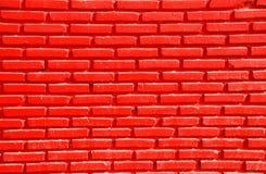 Röd tegelsten Arkivbilder
