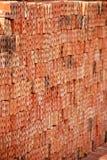 Röd tegelsten Fotografering för Bildbyråer