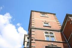 Röd tegelstenbyggnad Royaltyfria Foton