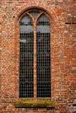 Röd tegelstenvägg Fotografering för Bildbyråer