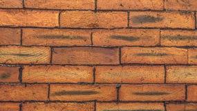Röd tegelstenvägg Royaltyfri Fotografi