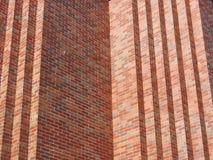 Röd tegelstenvägg Arkivfoto