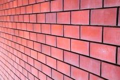 Röd tegelstenvägg Royaltyfria Foton