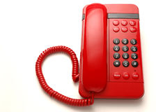 röd telefon Arkivfoto