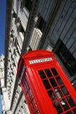 röd telefon royaltyfria foton