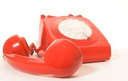röd telefon Royaltyfri Bild