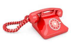 röd telefon royaltyfri illustrationer