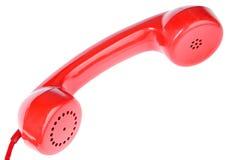 röd telefon royaltyfria bilder